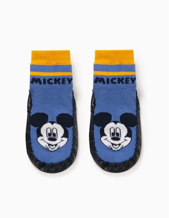 Non-slip Slippers Socks for Boys 'Mickey', Blue