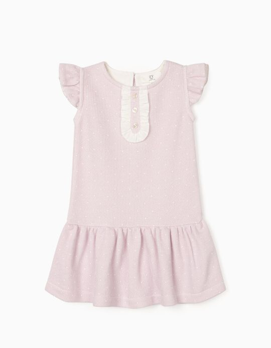 Knitted Dress for Baby Girls, Purple