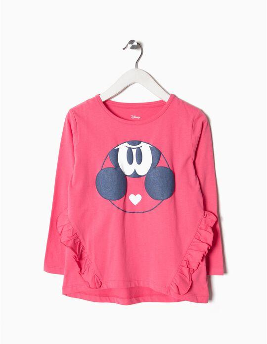 T-shirt Manga Comprida Mickey Menina