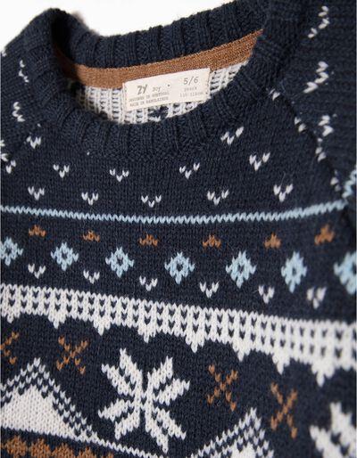 Camisola Lã Azul