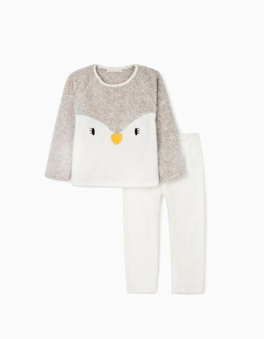 Pyjamas for Girls 'Lady Penguin', White/Grey