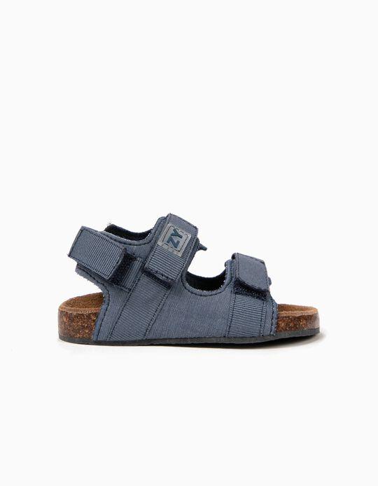 Sandálias para Bebé Menino com Velcro, Azul