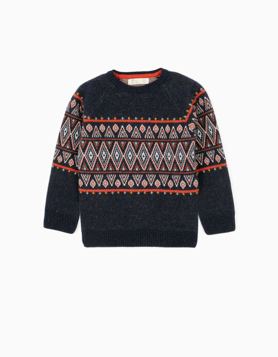 Woollen Jumper for Boys, Dark Blue