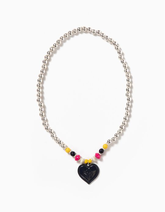 Silvery Chain with Heart