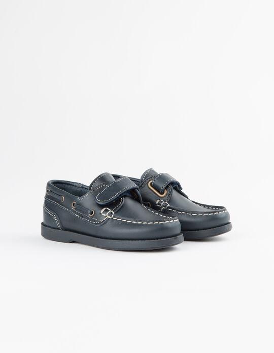 Sapatos Vela Menino Pele Azuis
