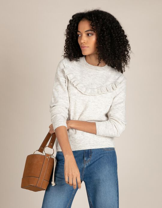 Jumper with Ruffles