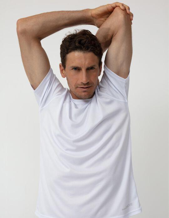 T-shirt Técnica Desporto, Homem, Branco