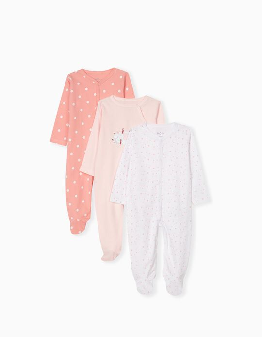 3 Sleepsuits for Newborn Babies