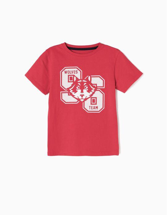 T-shirt Wolves 96 Vermelha