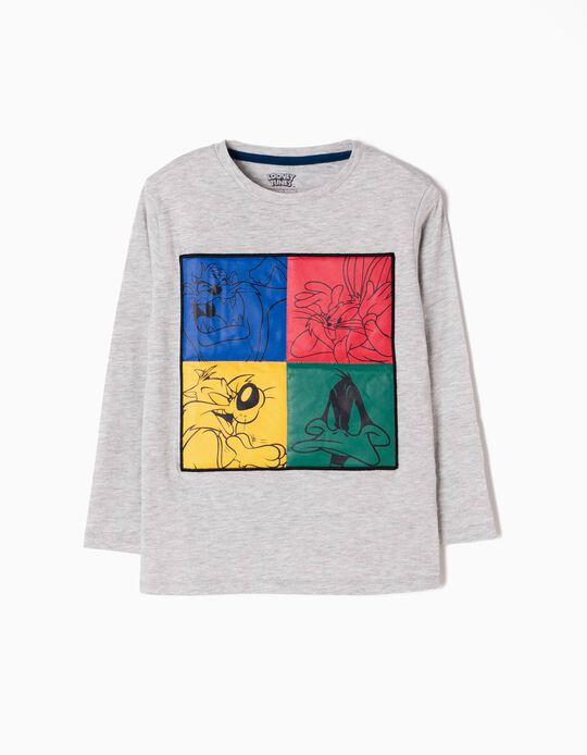 T-shirt Manga Comprida Looney Tunes Cinzenta