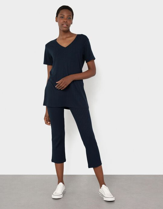 Rib Knit Trousers, Women
