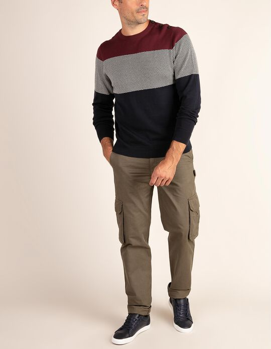 Calças estilo cargo straight fit
