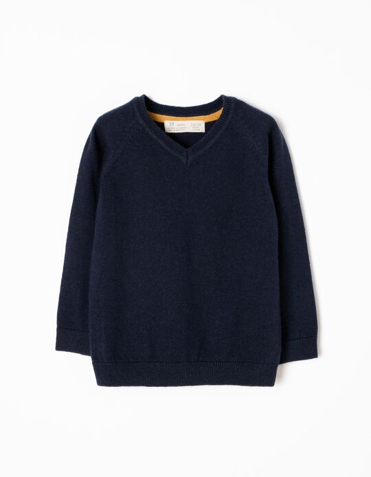 Knitted Jumper, Navy Blue