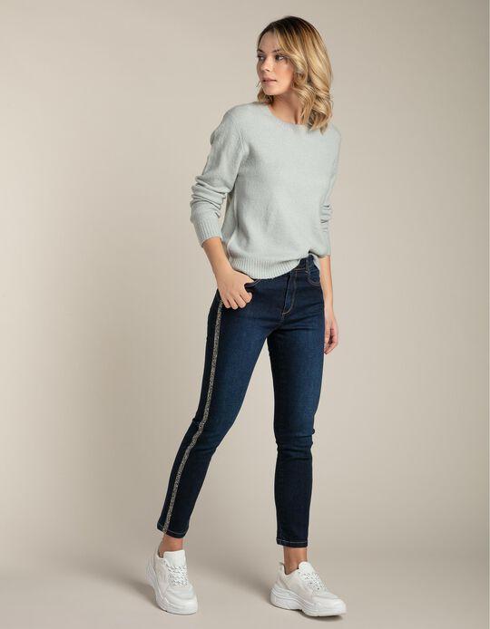 Jeans Slim Fit com Pormenor