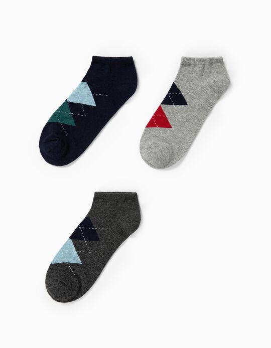 Pack de 3 pares de meias pelo tornozelo