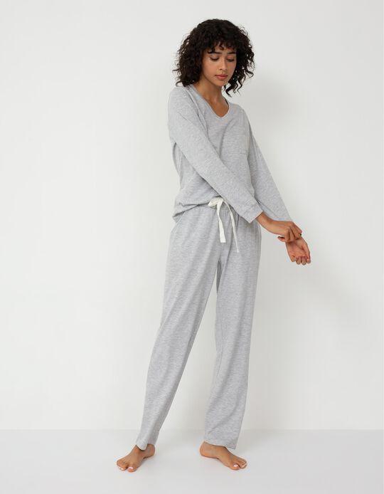 Pyjamas for Women, Marl Grey