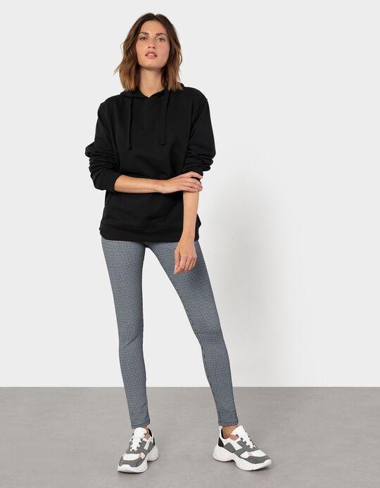 Patterned Leggings, Black