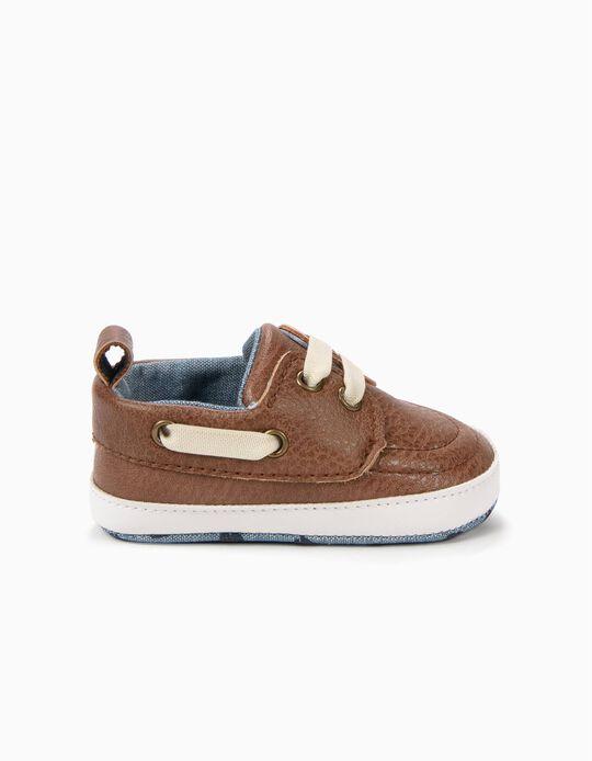 Sapatos de Vela Pre-Walker Camel