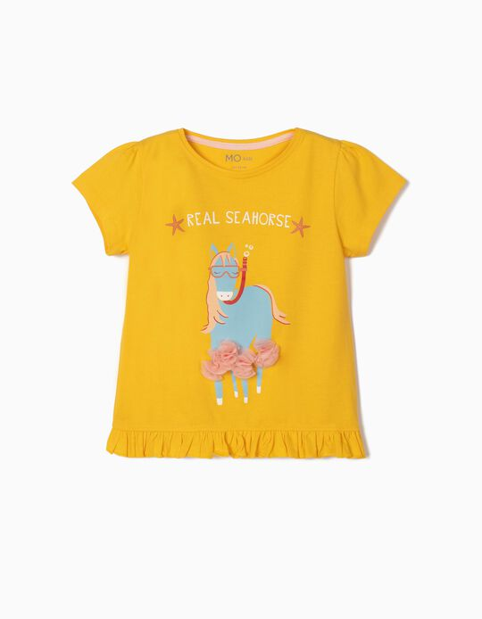 T-shirt for Girls, 'Real Seahorse'