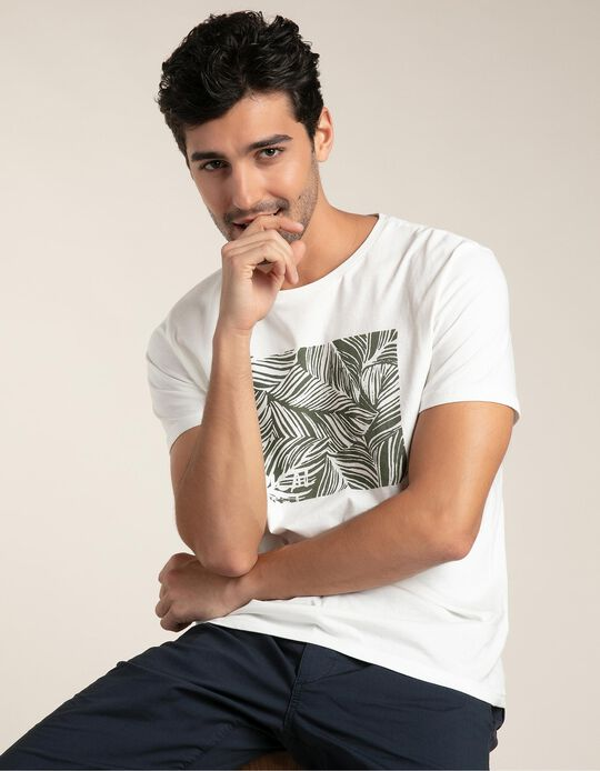 T-shirt estampado tropical
