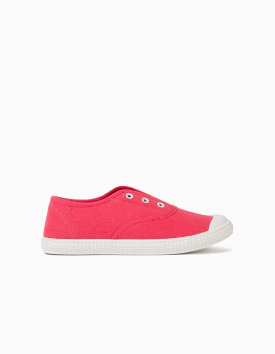 Canvas Trainers with Elastic, Girls