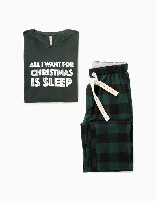 Pijama estampado natalício