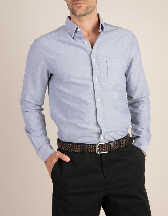 Camisa Oxford Slim Fit