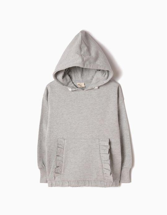 Sweatshirt com Capuz Cinzenta
