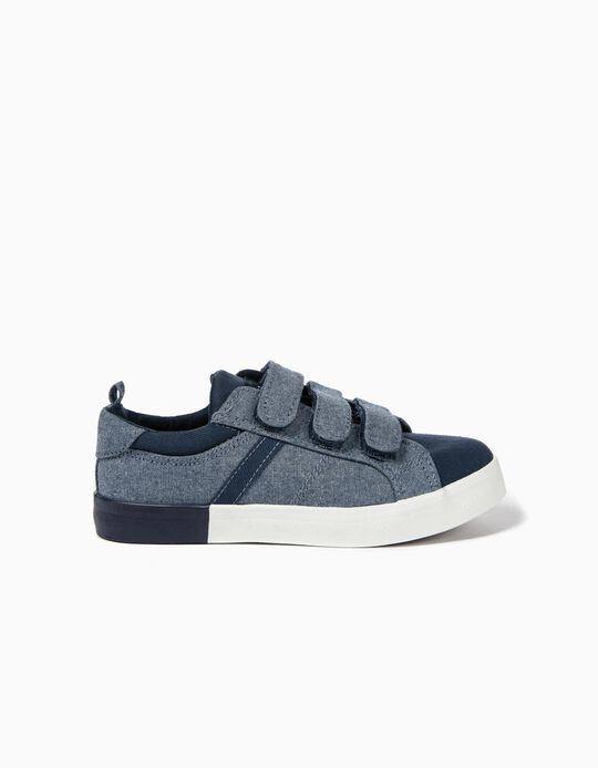 Trainers for Boys with Hook and Loop Tabs, Blue