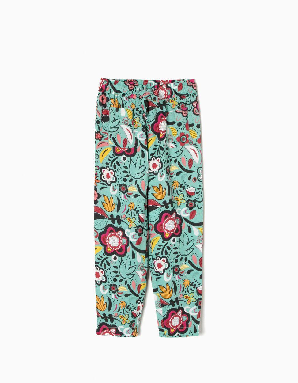 Calças Fluidas Florais