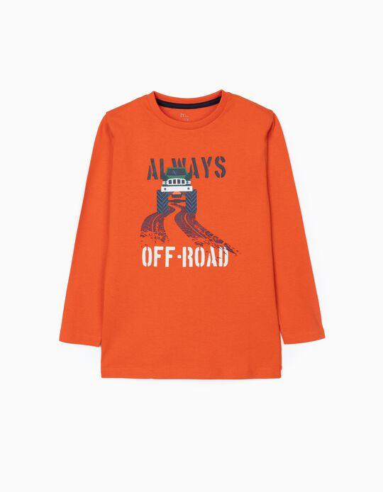 Long Sleeve T-Shirt for Boys 'Off Road', Orange