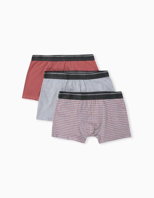 3 Assorted Boxer Shorts, Men