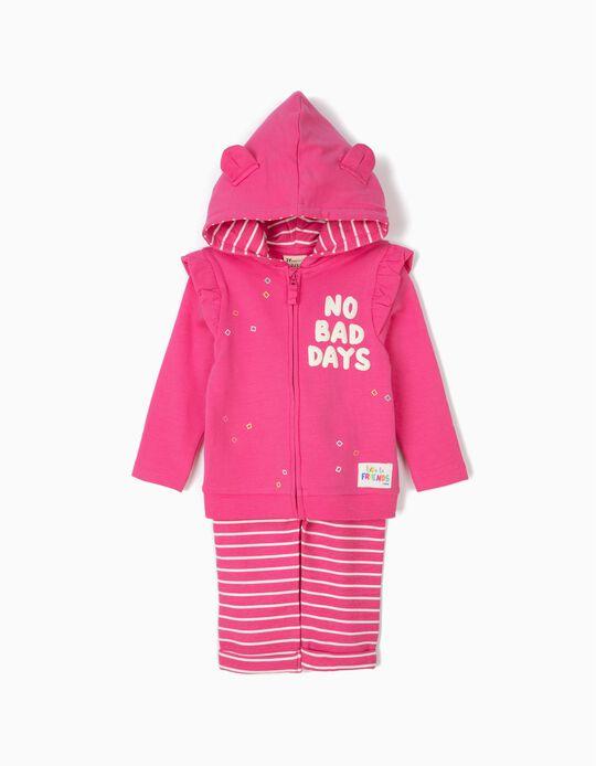 Fato de Treino para Bebé Menina 'No Bad Days', Rosa
