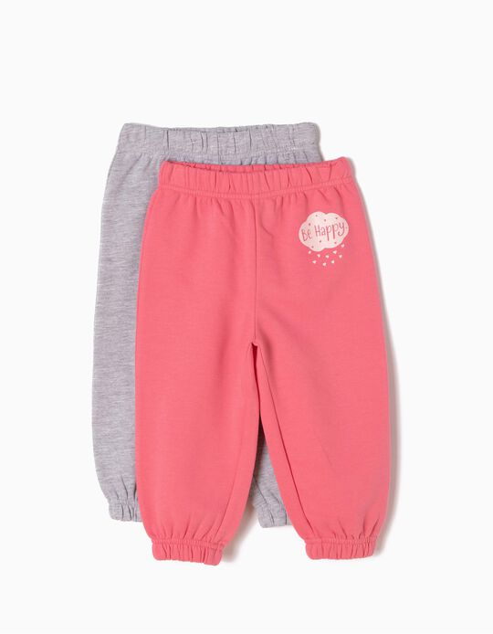 Pack of 2 Joggers, Be Happy