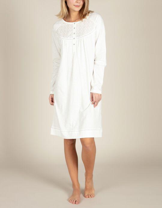 Camisa de dormir bordado inglês