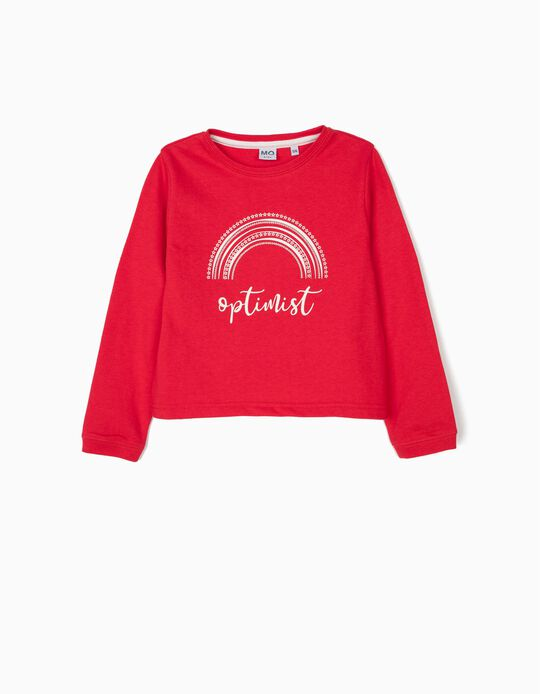 Sweatshirt curta estampada