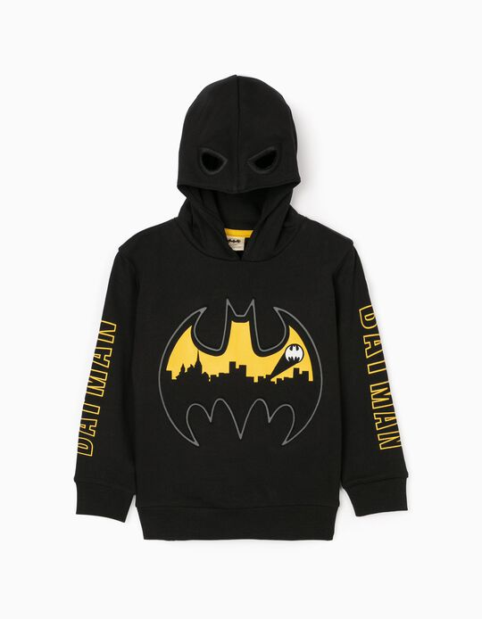 Sweatshirt with Hood-Mask for Boys 'Batman', Black