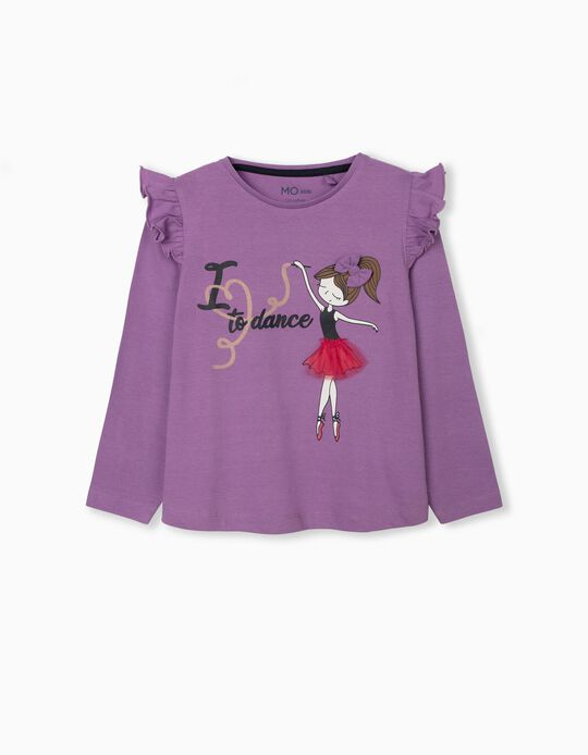 Long Sleeve Top for Girls, Lilac