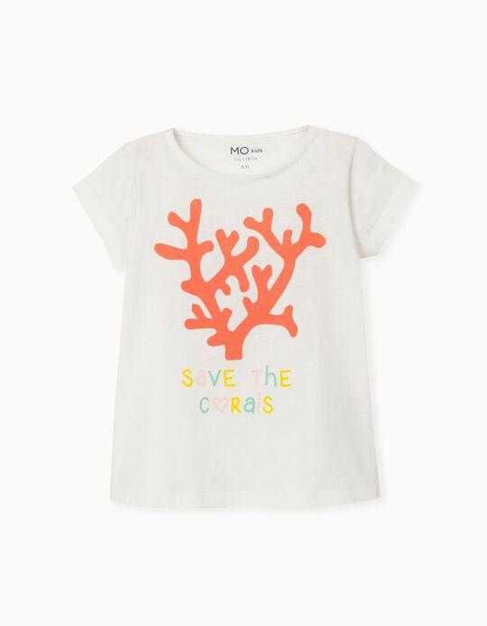 T-shirt para Menina, 'Save Corals'