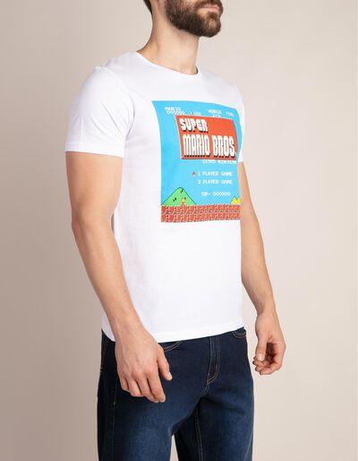 T-shirt com estampado Super Mario Bros.