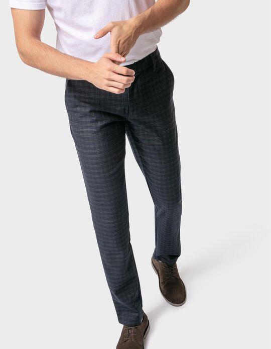 Slim leg twill trousers