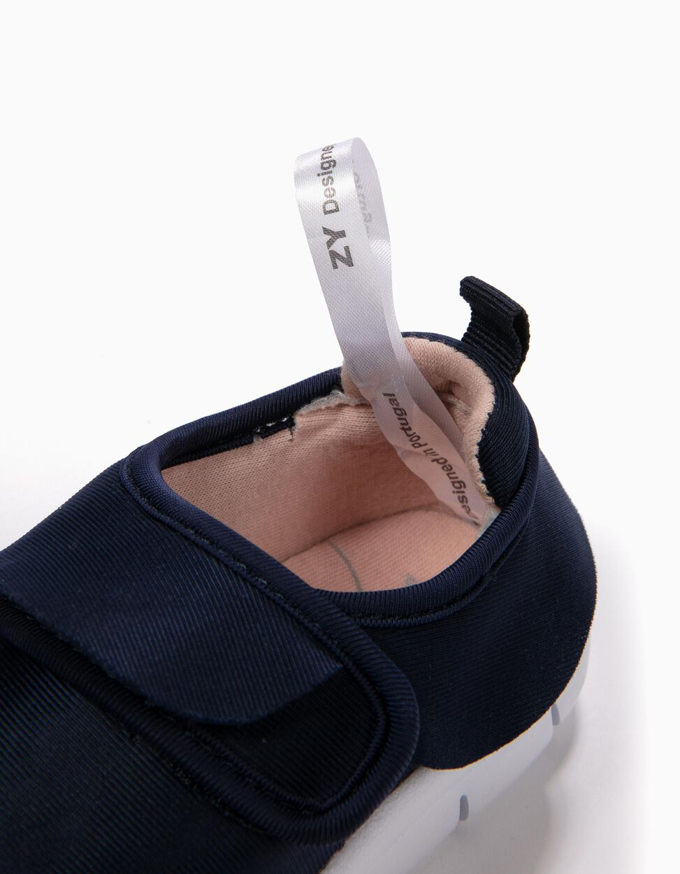 Sapatilhas com Velcro e Folhos Azuis
