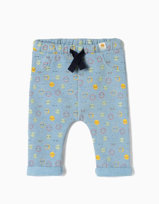 Joggers for Newborn Boys 'All Smiles', Blue