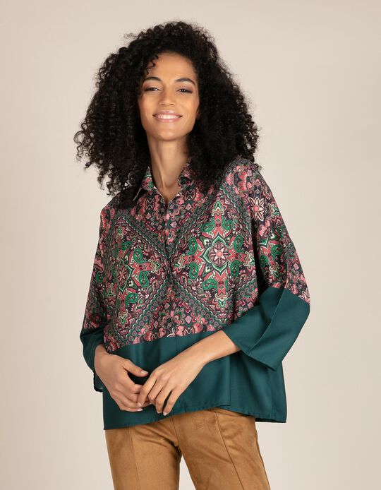 Sateen Blouse, Paisley