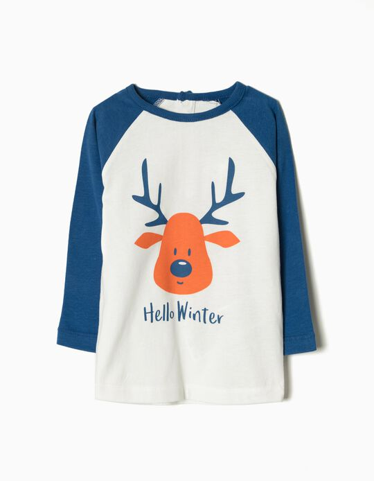 T-shirt manga comprida Hello Winter