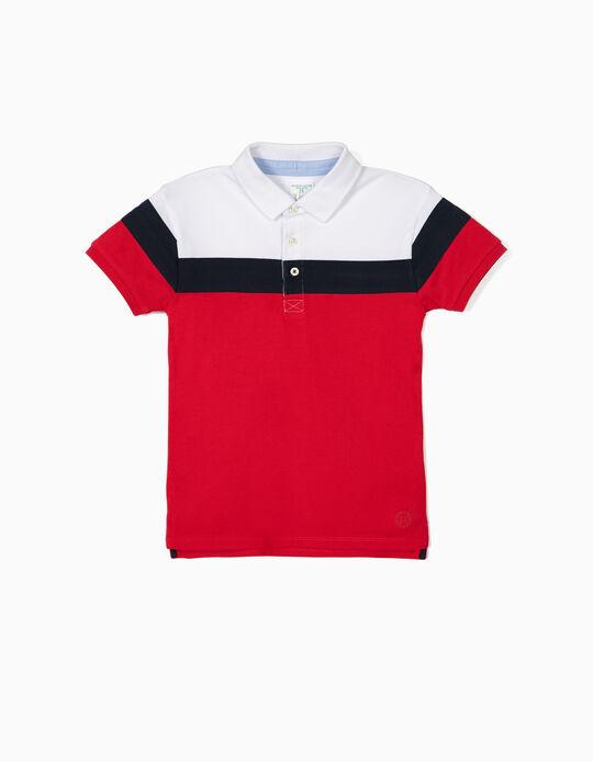 Short Sleeve Polo Shirt for Boys 'B&S', Multicolour