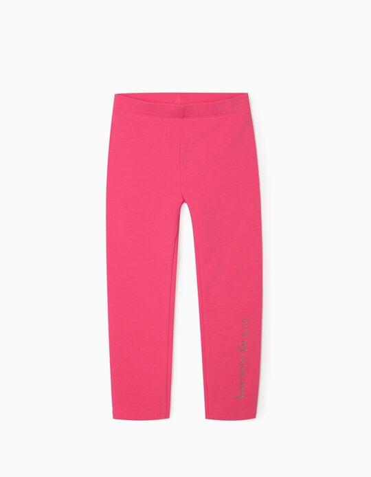 Carded Leggings for Girls, Pink