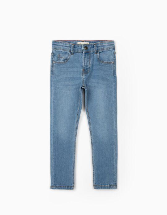 Regular Fit Denim Trousers for Boys, Light Blue