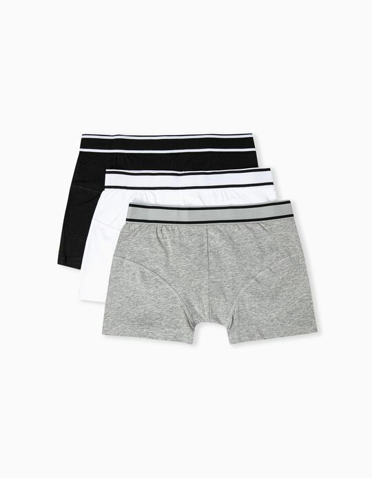 3 Pairs of Assorted Boxer Shorts for Men
