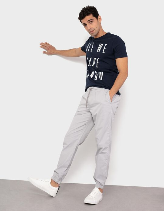 Twill Trousers, Elasticated Waistband